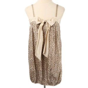 TRINITY Cheetah Print Silk Bubble Hem Mini Dress